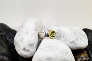 Silbergoldring Peridot