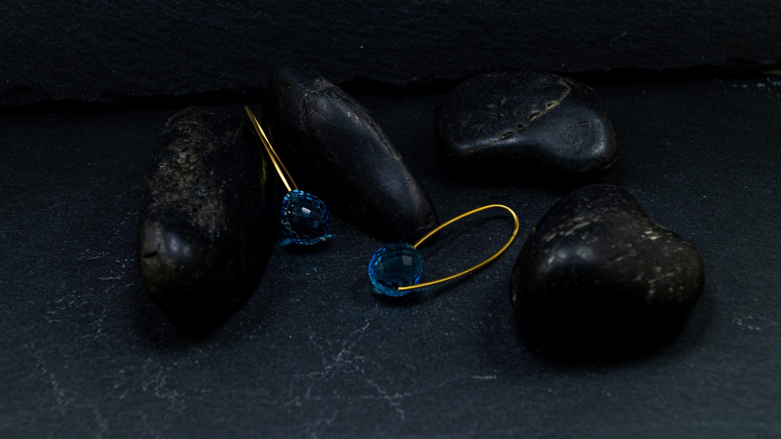 Topasohrhänger