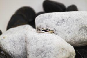 Verlobungsring Weißgold mit Brilliant