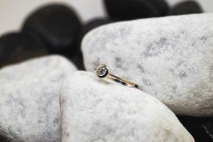 Verlobungsring Weißgold mit Brillant