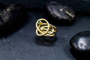 Goldring Turmalin-Diamant