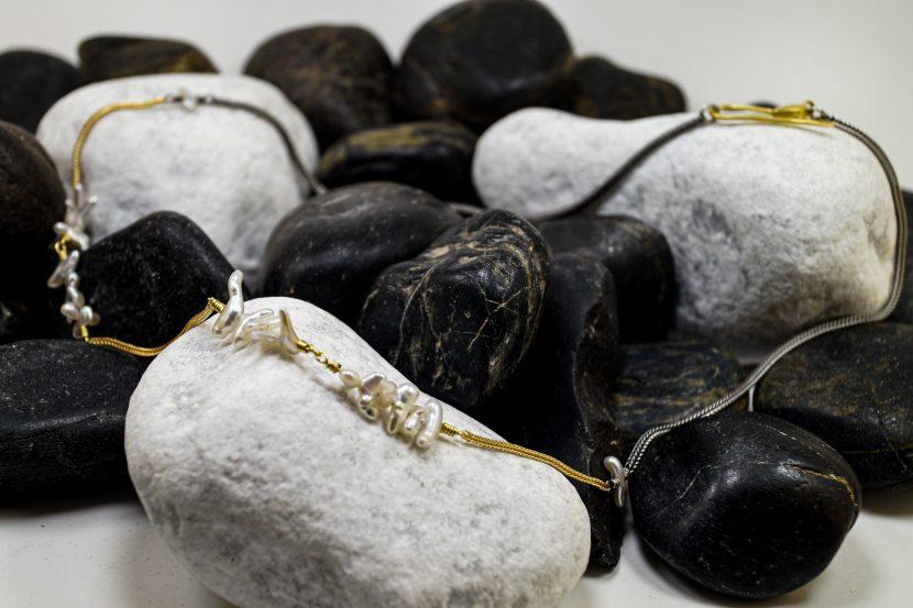 Silbergoldkette Perle